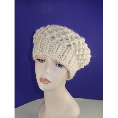 Super Chunky Simple Lace Tam Beret