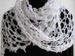 Snowy angel shawl