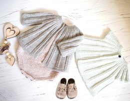 Seamless Top Down Cardigan and Onesie - P094