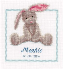 Vervaco Cute Bunny Cross Stitch Kit - 19 x 21cm