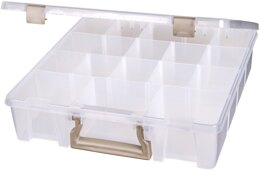 "ArtBin Super Satchel 3-15 Compartments - 15.25""X14""X3.5"" Translucent"