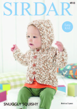 Boy's Hooded Jacket in Sirdar Snuggly Squishy - 4910 - Downloadable PDF