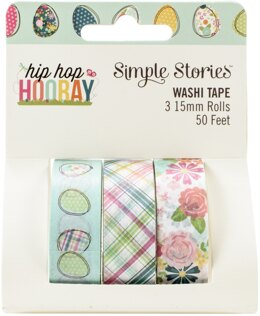 Simple Stories Hip Hop Hooray Washi Tape 3/Pkg - 619639