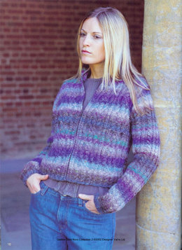 Knot Cable Jacket in Noro Silk Garden