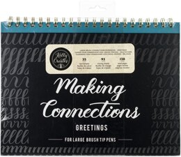 "American Crafts Kelly Creates Large Brush Workbook 11.6""X10"" 128/Pkg - Connections/Greetings"