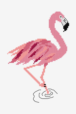 Flamingo in DMC - PAT0778 -  Downloadable PDF