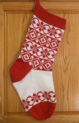 Diamonds and Roses Christmas Stocking