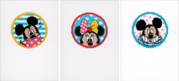 Vervaco Minnie & Mickey Greeting Cards Cross Stitch Kit - PN-0168455
