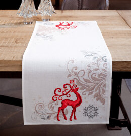 Vervaco Proud Deer Table Runner Cross Stitch Kit