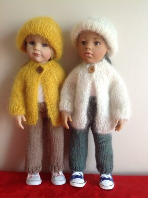 """Mohair Jacket, Hat and trousers for 18"""" Doll"""