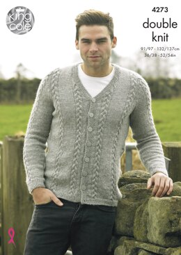 Cardigan & Waistcoat in King Cole Panache DK - 4273 - Downloadable PDF