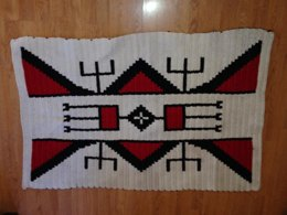 Sioux Indian Design Afghan