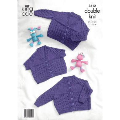 Baby Cardigans in King Cole Cottonsoft DK - 3512