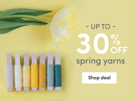 Up to 30 percent off Spring Yarns!