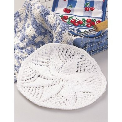 Doily Style Dishcloth In Lily Sugar And Cream Solids Crochet