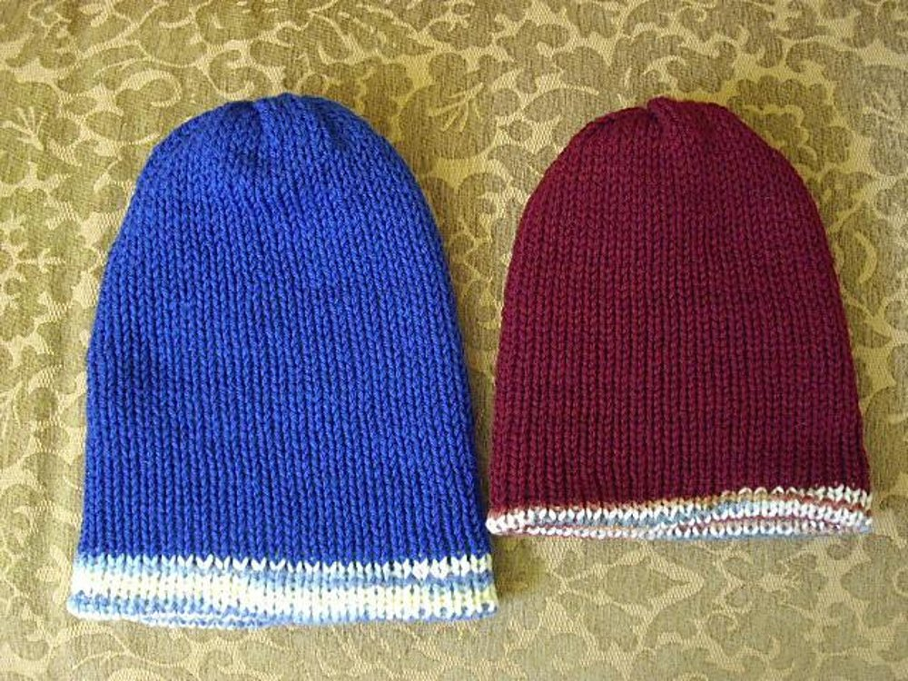 Reversible Watch Cap Slouch Machine Knitting pattern by Lori Cerny ... 4ab085dc428