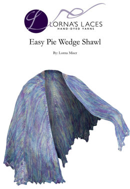 Easy Pie Wedge Shawl in Lorna's Laces Helen's Lace