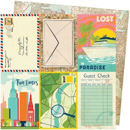 """American Crafts Vicki Boutin Let's Wander Double-Sided Cardstock 12""""X12"""" 25/Pkg - Lost In Paradise"""