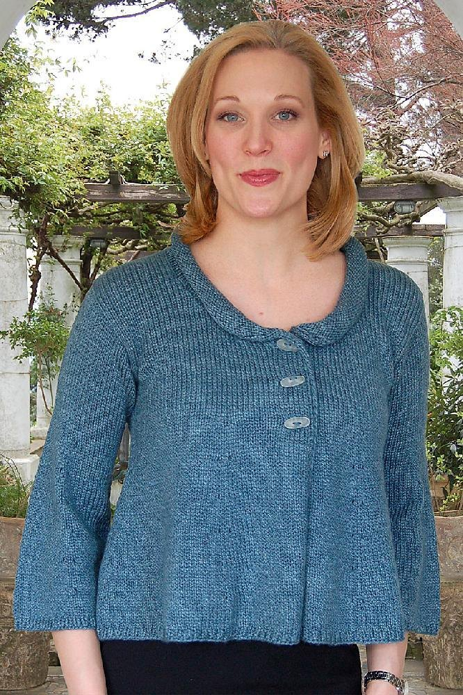 Cropped Swing Jacket to Knit Knitting pattern by Valerie Love Knitting Patt...