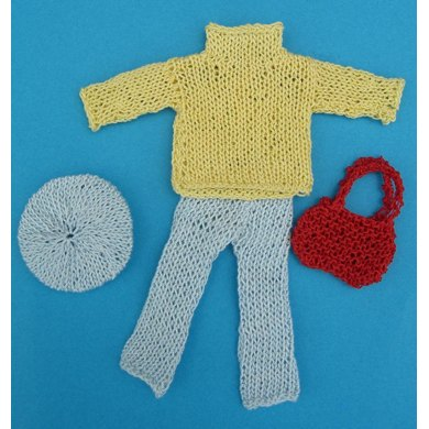 HMC25 Cotton jumper and trousers for a doll in the dolls house