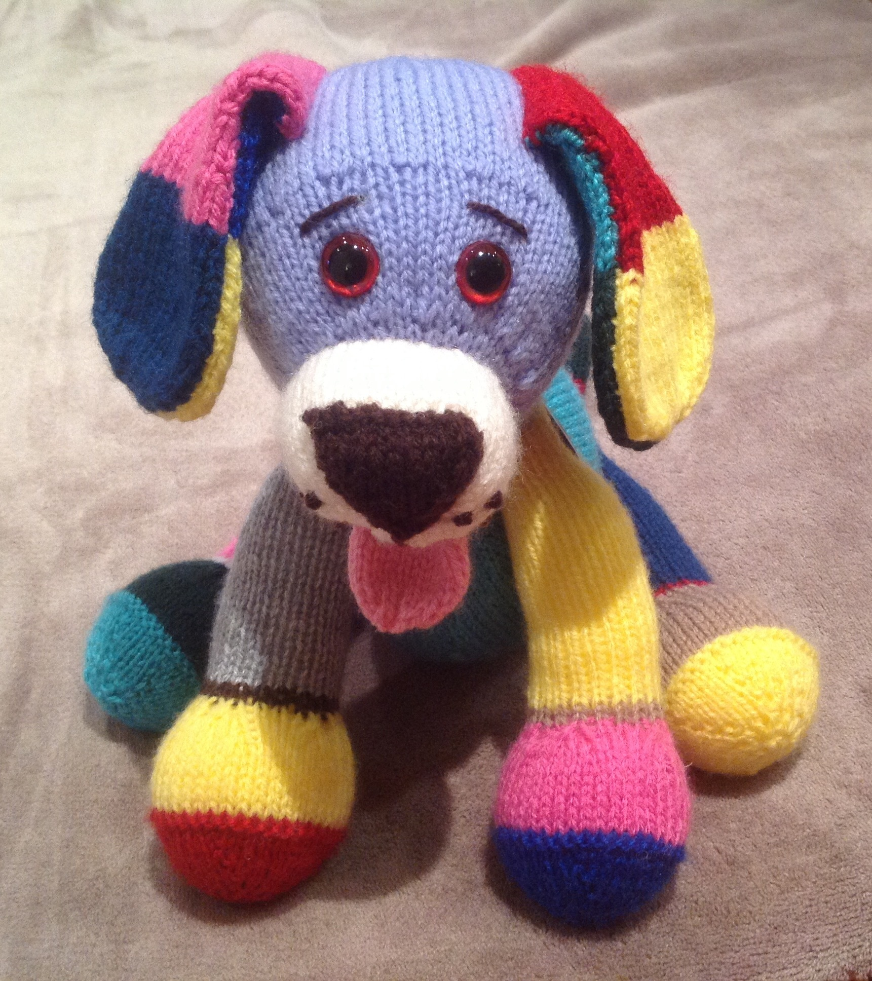 Jacob The Multi Coloured Puppy Knitting Project By Jules L