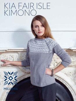 Kia Fair Isle Kimono Cardigan in MillaMia Naturally Soft Merino - Downloadable PDF