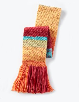 Simple Texture Crochet Scarf in Caron Cakes - Downloadable PDF