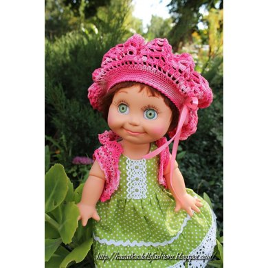 Beret and bolero for dolls