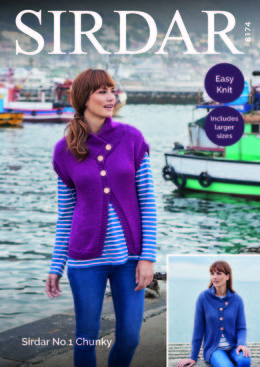 Jackets in Sirdar No.1 Chunky  - 8174 - Downloadable PDF