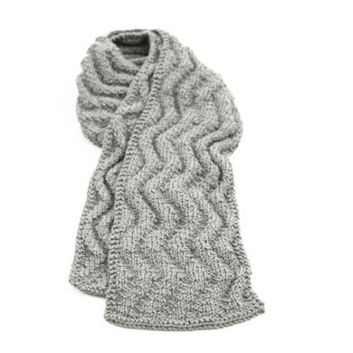 Wave Rib Scarf in Lion Brand Wool-Ease - 90197AD