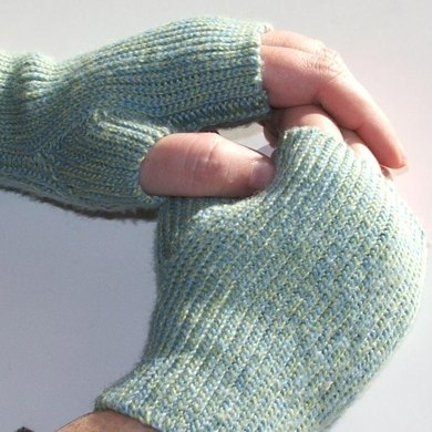 Knit-Look Fingerless Mitts