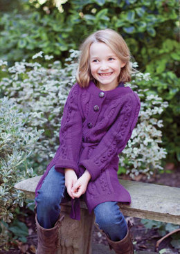 Livia Child's Cardigan in MillaMia Naturally Soft Merino