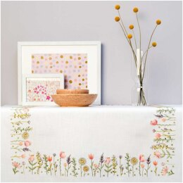 Rico Summer Meadow Embroidery Tablecloth Kit