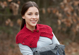 Buttoned Neck Scarf in Classic Elite Yarns Toboggan