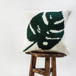 038 - Tropical leaf pillow cover