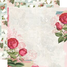 """Simple Stories Simple Vintage My Valentine Double-Sided Cardstock 12""""X12"""" 25/Pkg - Roses Are Red"""