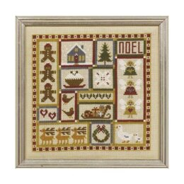 Historical Sampler Company Mini Christmas Patchwork Cross Stitch Kit - 16ct Aida