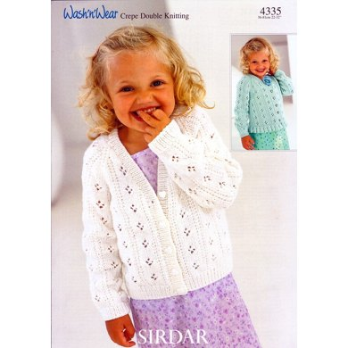 Cardigans in Sirdar Wash 'n' Wear Double Crepe DK - 4335