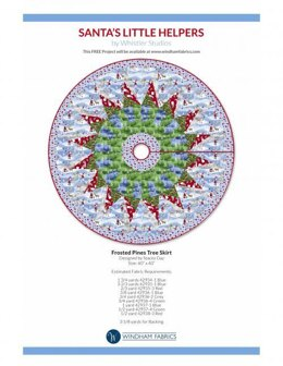 Windham Fabrics Frosted Pines Tree Skirt - Downloadable PDF