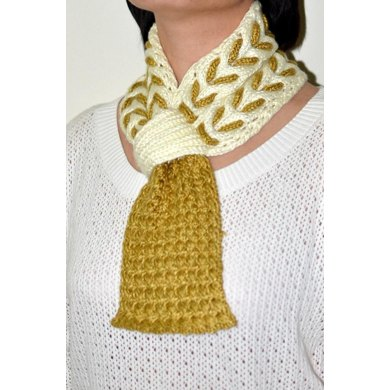 Honey Scarf ( Keyhole / Ascot / Pull-Through / Vintage / Stay On Scarf Knitting Pattern )