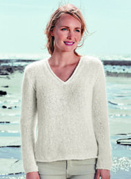 V Neck Sweater in Bergere de France Angel 50 - Mag 183 -18