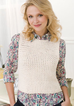 Love to Layer Tank in Aunt Lydia's Fashion Crochet Thread Size 3 Solids - LC2533