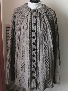 Celtic Cabled Cape