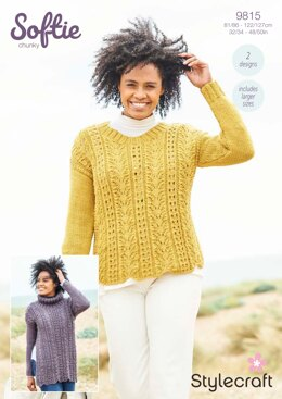 Women Jumpers in Stylecraft Softie - 9815 - Downloadable PDF