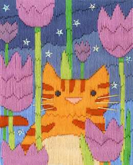 Bothy Threads Long Stitch Cats - Tiger Embroidery Kit