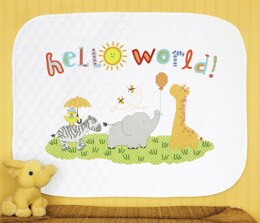 Dimensions Stamped Cross Stitch Kit - Hello World Quilt