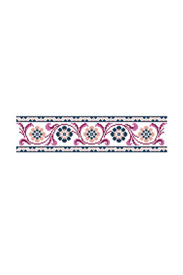 Antique Floral Banner in DMC - PAT0167 - Downloadable PDF