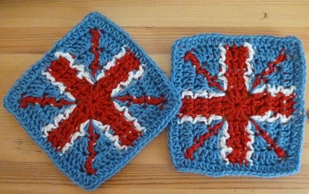 Union Jack Square / Coasters Crochet pattern by Keep Calm and Crochet On UK ...