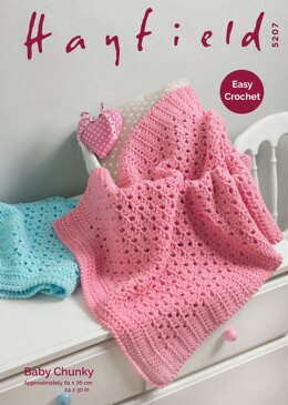Blanket in Hayfield Baby Chunky - 5207 - Downloadable PDF