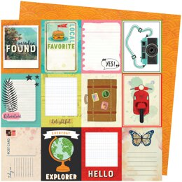 "American Crafts Vicki Boutin Let's Wander Double-Sided Cardstock 12""X12"" 25/Pkg - Wish You Were Here"